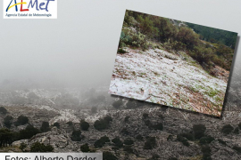 The first snow of autumn falls in Majorca
