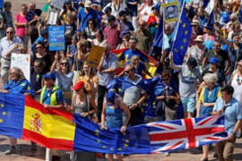 Britons marching in Malaga