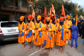 The Sikhs celebrate