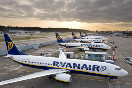 Ryanair planes at Madrid airport