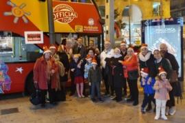 Open top bus tour of Palma Christmas lights