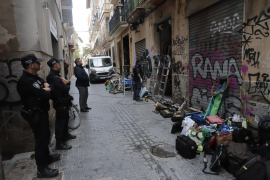 Squatters have been forcibly removed in Palma