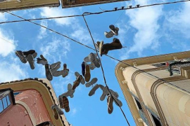 Shoefiti - urban art in Palma?