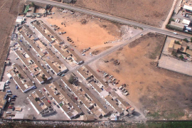 Aerial view of Son Banya, there are now only 85 homes left standing