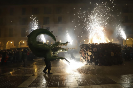 The dragon signals the start of the Palma party