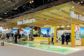 Balearic Islands' stand at Fitur-Madrid, a tourist fair that will be inaugurated tomorrow by Queen Sofia.