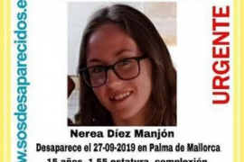 Teenage girl missing in Palma