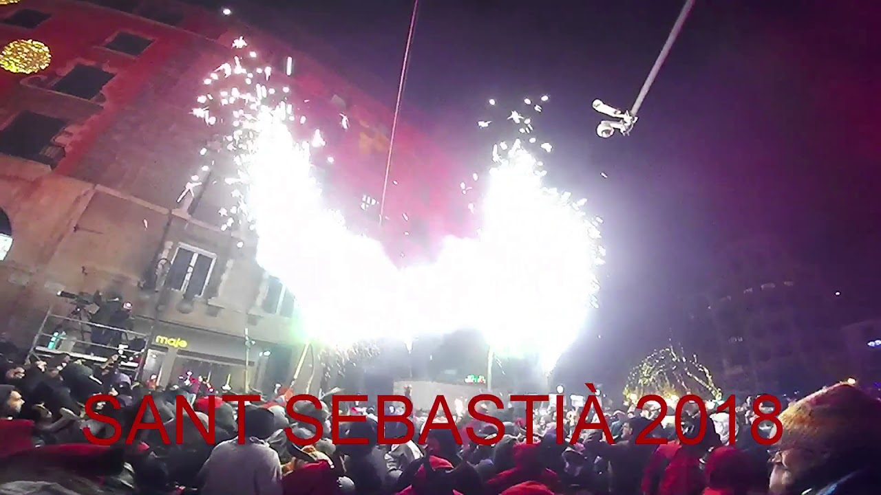 The big finale of Sant Sebastià