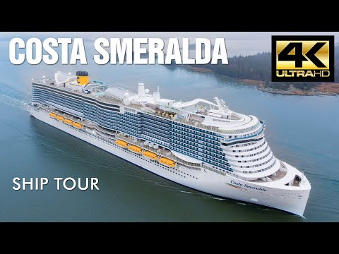Environmentally friendly mega-cruise ship docks In Palma