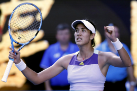 Spanish Muguruza battles past Halep to reach Australian Open final