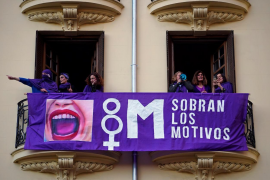 """Strike"" in Majorca for International Women's Day"
