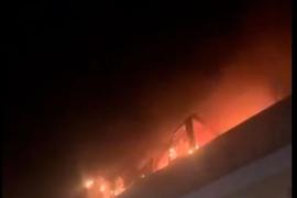 Fire in Pont d'Inca