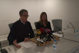 At the press conference at Son Espases hospital
