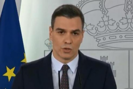 Sánchez announces intention to extend state of alarm