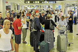 Typical passenger numbers at the airport this weekend