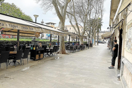 Parking spaces could be used for increasing Palma terraces