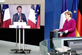French President, Emmanuel Macron & German Chancellor, Angela Merkel.