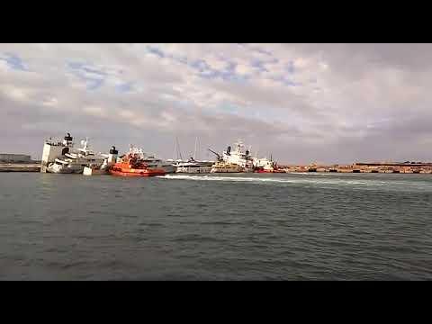 Sinking Cargo Ship in Palma