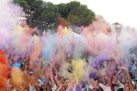 Festival of light and colour as the Holi festival is marked in Santa Ponsa