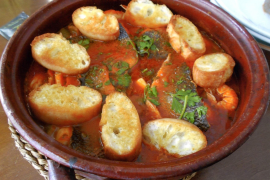 Brodetto: abruzesse fish soup in Palma