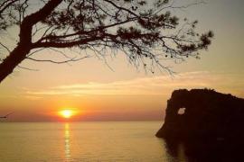 Sunset ban at sa Fordada in Majorca