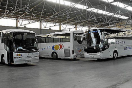 Tourist Buses parked up