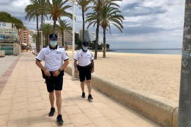 Calvia police issue one hundred fines for not wearing masks