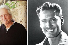 What connects Michael Douglas with Errol Flynn in Majorca?