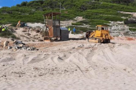 Famous Mallorcan beach bar reduced to rubble