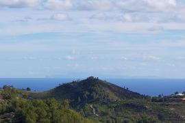 Mallorca's outline seen from Ibiza