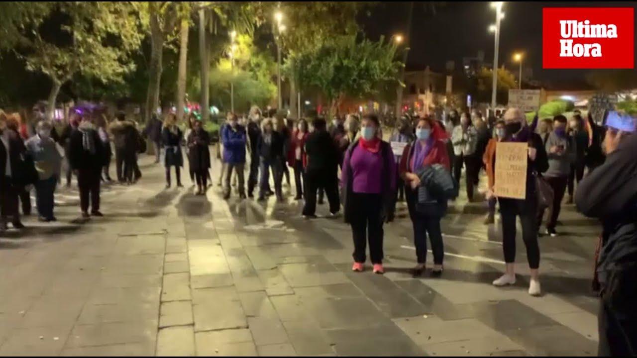 Feminist Movement of Mallorca protest in Palma
