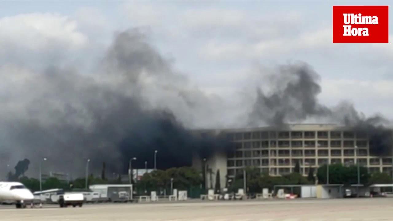 Palma Airport fire arrest