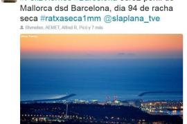 Majorca mountains as seen from Barcelona