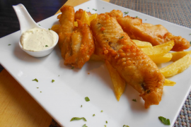 Nice Med version of fish and chips