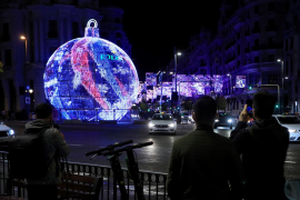 Ceremony for turning on the Christmas lights in Madrid
