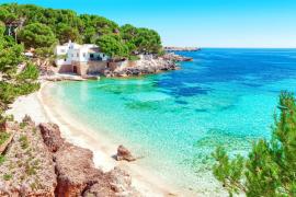Small white-sandy beach in Mallorca