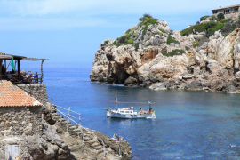Cala Deya is a small beach close to Deya where you might even spot someone famous