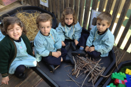 Queen's College Nursery children - stepping into storyland