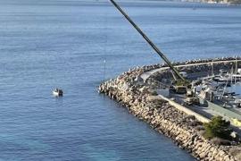 Concrete slabs thrown into the sea in Puerto Portals