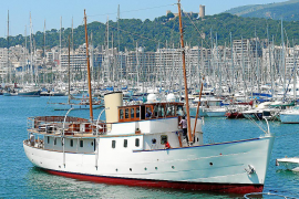 Sir Malcolm Campbell's yacht in Palma