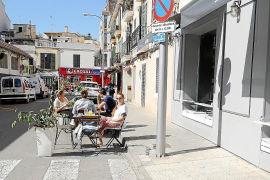 Palma's temporary terraces without heating this winter