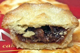 When mince pies were truly meaty