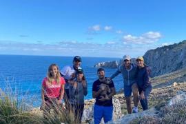 Rafa Nadal goes hiking in Mallorca
