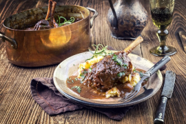 Braised Lamb shanks with star anise