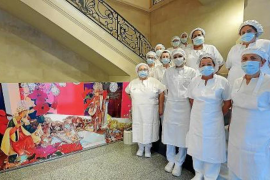 Christmas food for hospital patients in Mallorca