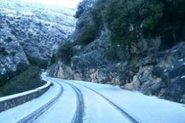 Snow comes to Majorca's mountains