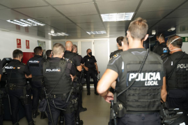Palma and National Police officers, Mallorca