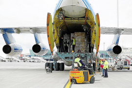 Delivery of protective equipment from China in Mallorca