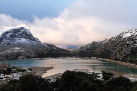 Snow in Mallorca's mountains