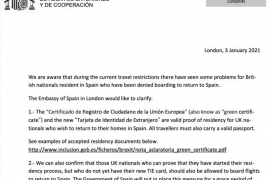 Green certificate is proof of residency in Spain